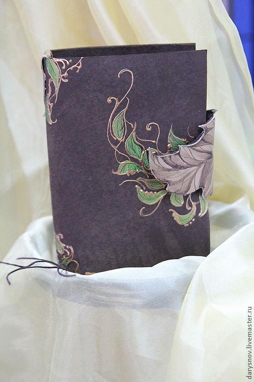 """Блокноты ручной работы. Ярмарка Мастеров - ручная работа. Купить книга-блокнот для записей из кожи """"Сказки леса"""". Handmade. Коричневый"""