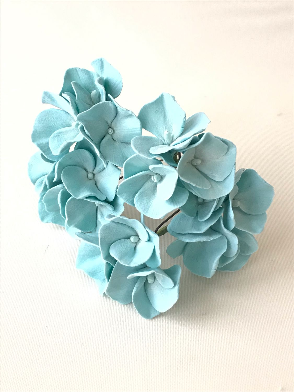 Studs with turquoise hydrangea, Hair Decoration, Voskresensk,  Фото №1