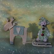 Подарки к праздникам ручной работы. Ярмарка Мастеров - ручная работа Мишка Ёлка. Handmade.