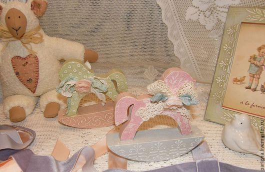 """Детская ручной работы. Ярмарка Мастеров - ручная работа. Купить Пара интерьерных лошадок """" Нежный возраст"""". Handmade. Мятный"""