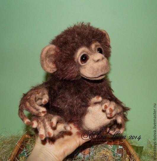 Игрушки животные, ручной работы. Ярмарка Мастеров - ручная работа. Купить Шимпанзе Софочка. Handmade. Обезьянка, эксклюзивная игрушка