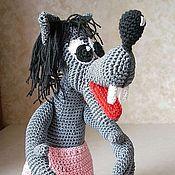 """Куклы и игрушки ручной работы. Ярмарка Мастеров - ручная работа Волк из """"Ну, погоди!"""".Волк вязаный игровой.Персонажи мультфильмов. Handmade."""