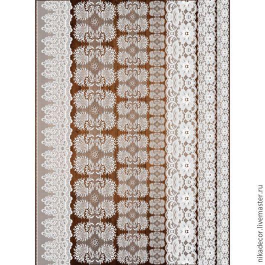 Декупаж и роспись ручной работы. Ярмарка Мастеров - ручная работа. Купить Кружева -1 (CP08920) - рисовая бумага, А3. Handmade.