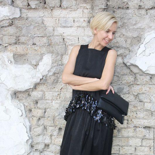 Юбки ручной работы. Ярмарка Мастеров - ручная работа. Купить Длинная черная юбка МАГИЯ. Handmade. Черный, вечерняя юбка