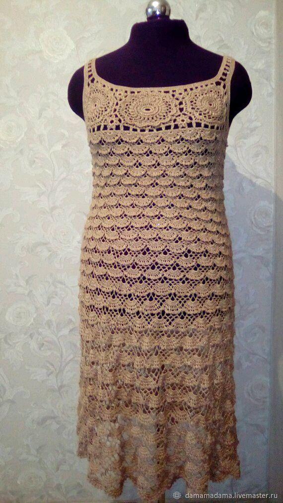 Openwork dress is crocheted, handmade, Tops, Krasnodar,  Фото №1