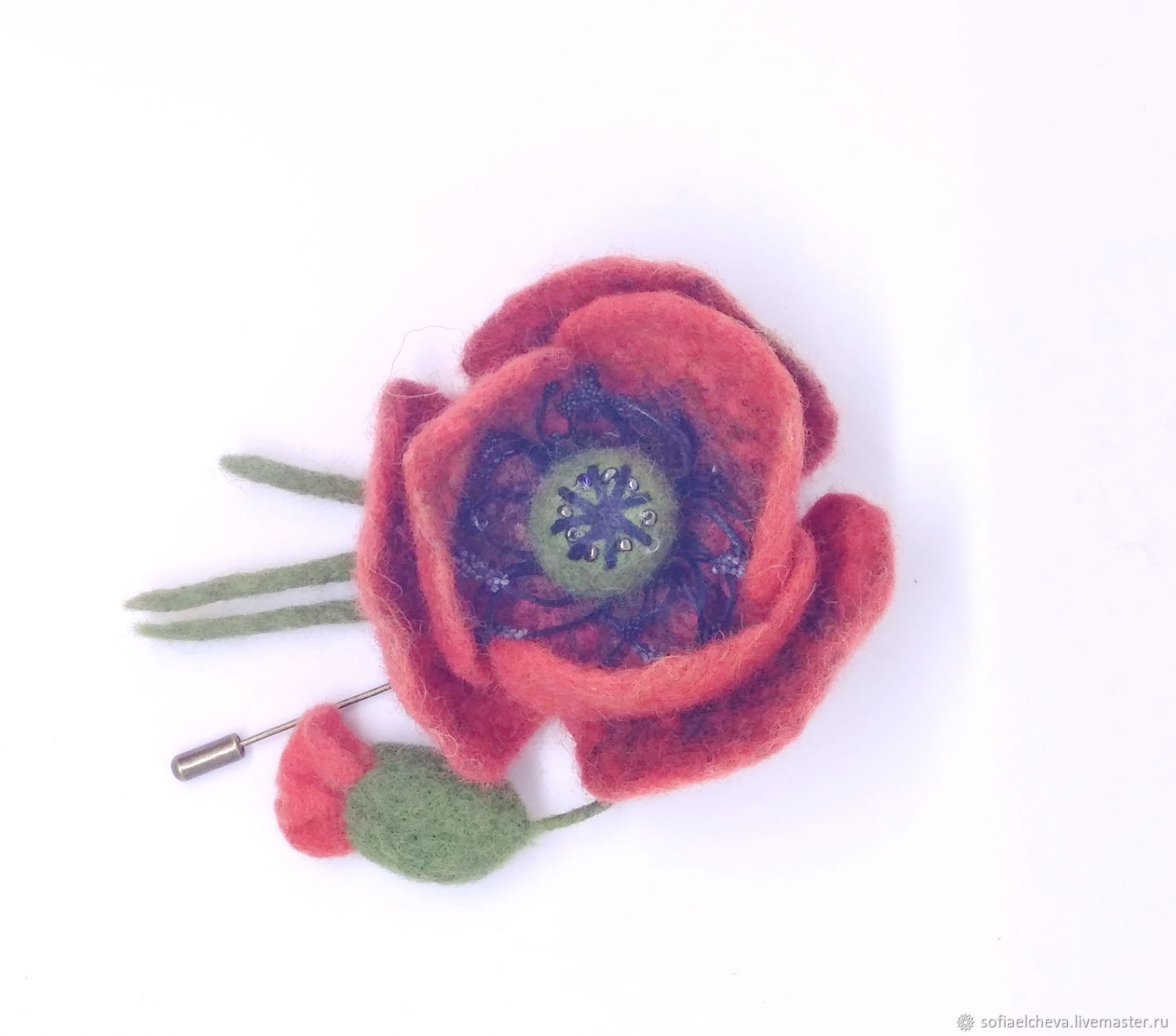 Brooch Pin Beautiful Poppy Shop Online On Livemaster With