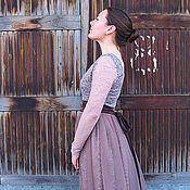 """Одежда ручной работы. Ярмарка Мастеров - ручная работа Платье """"Молочный шоколад"""". Handmade."""
