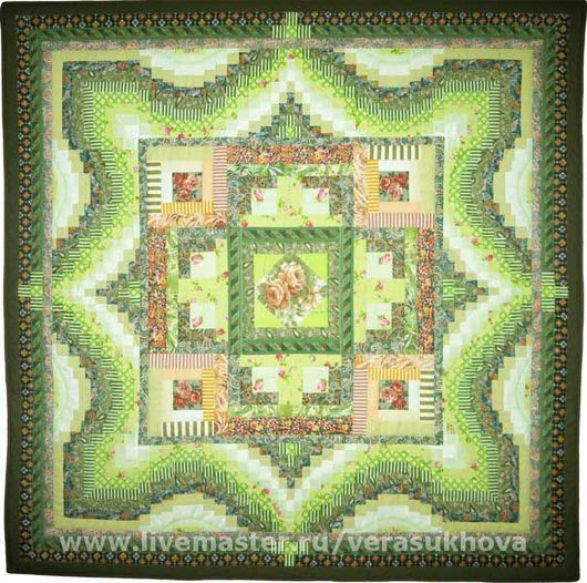Home Textiles & Carpets handmade. Livemaster - handmade. Buy Blanket 'nature's First green' 200х200см.Quilt, quilting