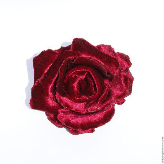 Броши ручной работы. Ярмарка Мастеров - ручная работа. Купить Бархатная роза «Бордо» «Bordeaux». Handmade. Бордовый
