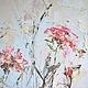 зеленая трава красные цветы лето в деревне пейзаж бирюзовое небо теплый воздух отпуск картина маслом заказать картину маслом как повесить картину