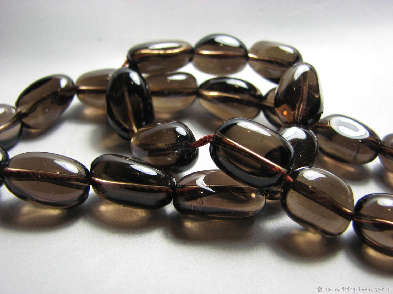 Smoky quartz Rauch Topaz oval smooth, Beads1, Moscow,  Фото №1