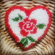 Украшения handmade. Livemaster - original item rose. brooch embroidered with beads. Handmade.