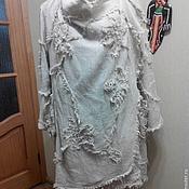 Одежда handmade. Livemaster - original item The summer coat of boiled flax. Handmade.