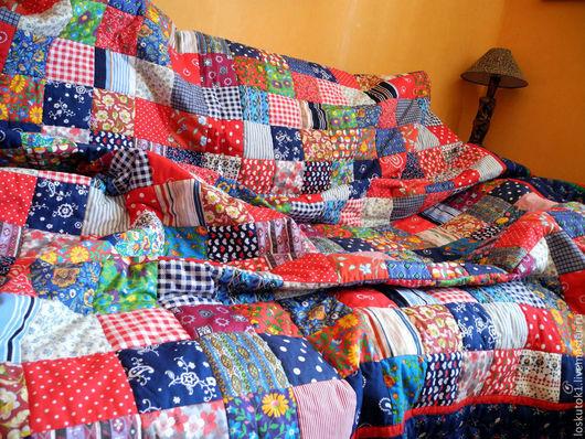 Текстиль, ковры ручной работы. Ярмарка Мастеров - ручная работа. Купить лоскутное покрывало  ДАЧНЫЙ КАНТРИ КАЛЕЙДОСКОП. Handmade. Дачный