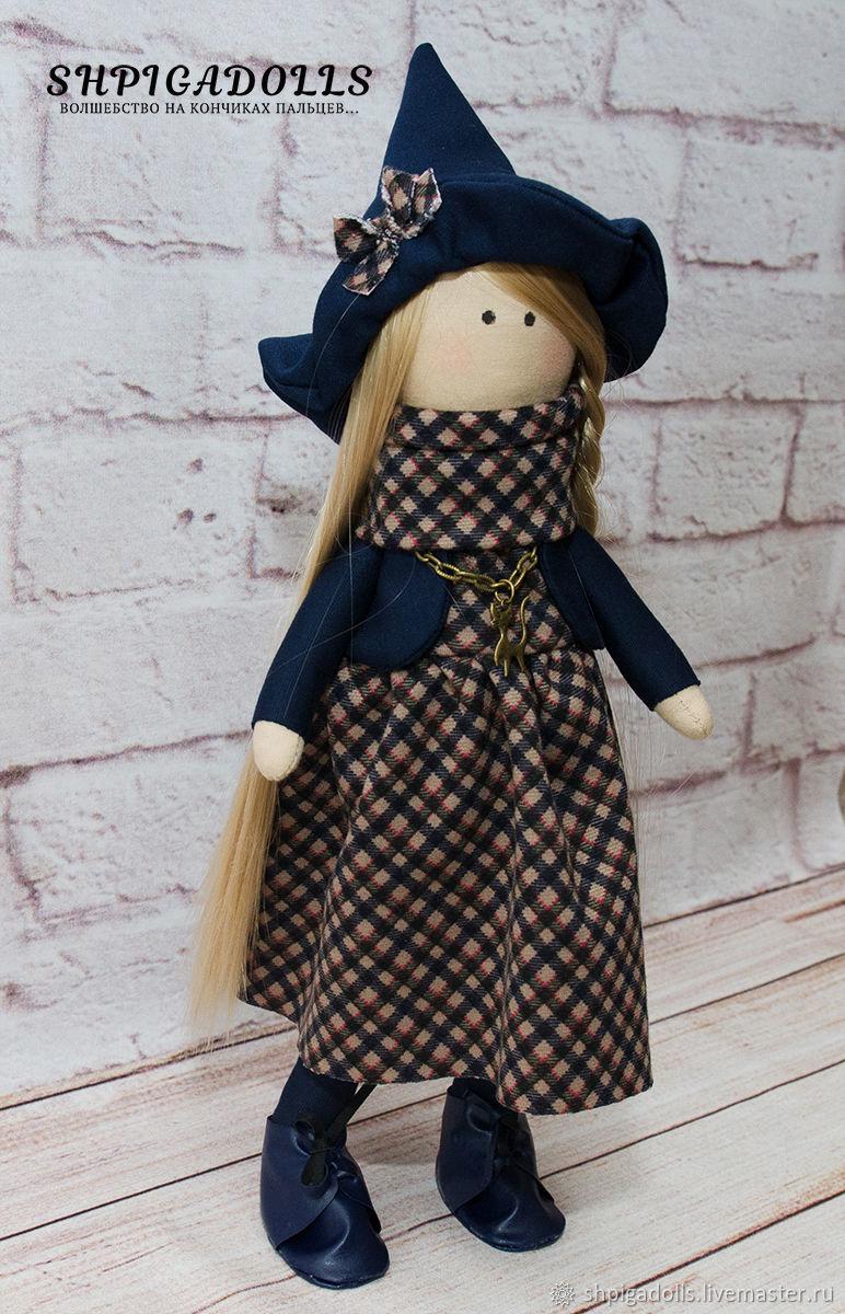 Интерьерная кукла текстильная ведьма ведьмочка лесная волшебница
