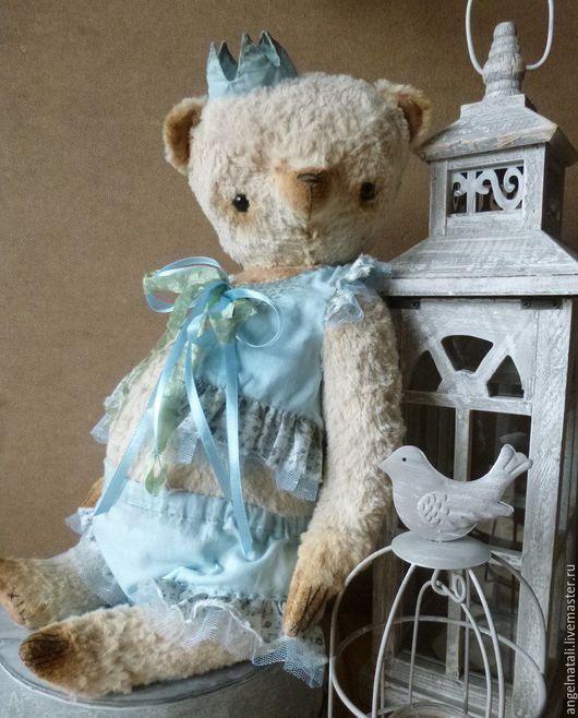 Мишки Тедди ручной работы. Ярмарка Мастеров - ручная работа. Купить Мишка Тедди. Handmade. Голубой, мишка в одежке
