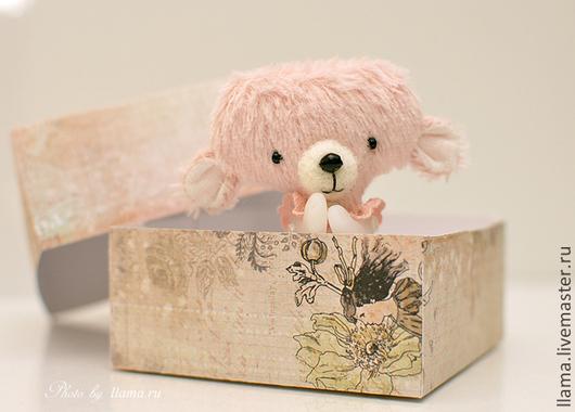 Мишки Тедди ручной работы. Ярмарка Мастеров - ручная работа. Купить Миниатюрный тедди-мишка. Handmade. Миниатюрный мишка, хлопок