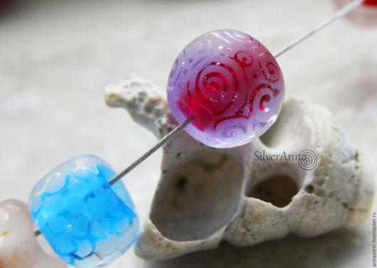 """Кулоны, подвески ручной работы. Ярмарка Мастеров - ручная работа. Купить Лэмпворк кулон lampwork """"Песня моря."""". Handmade."""