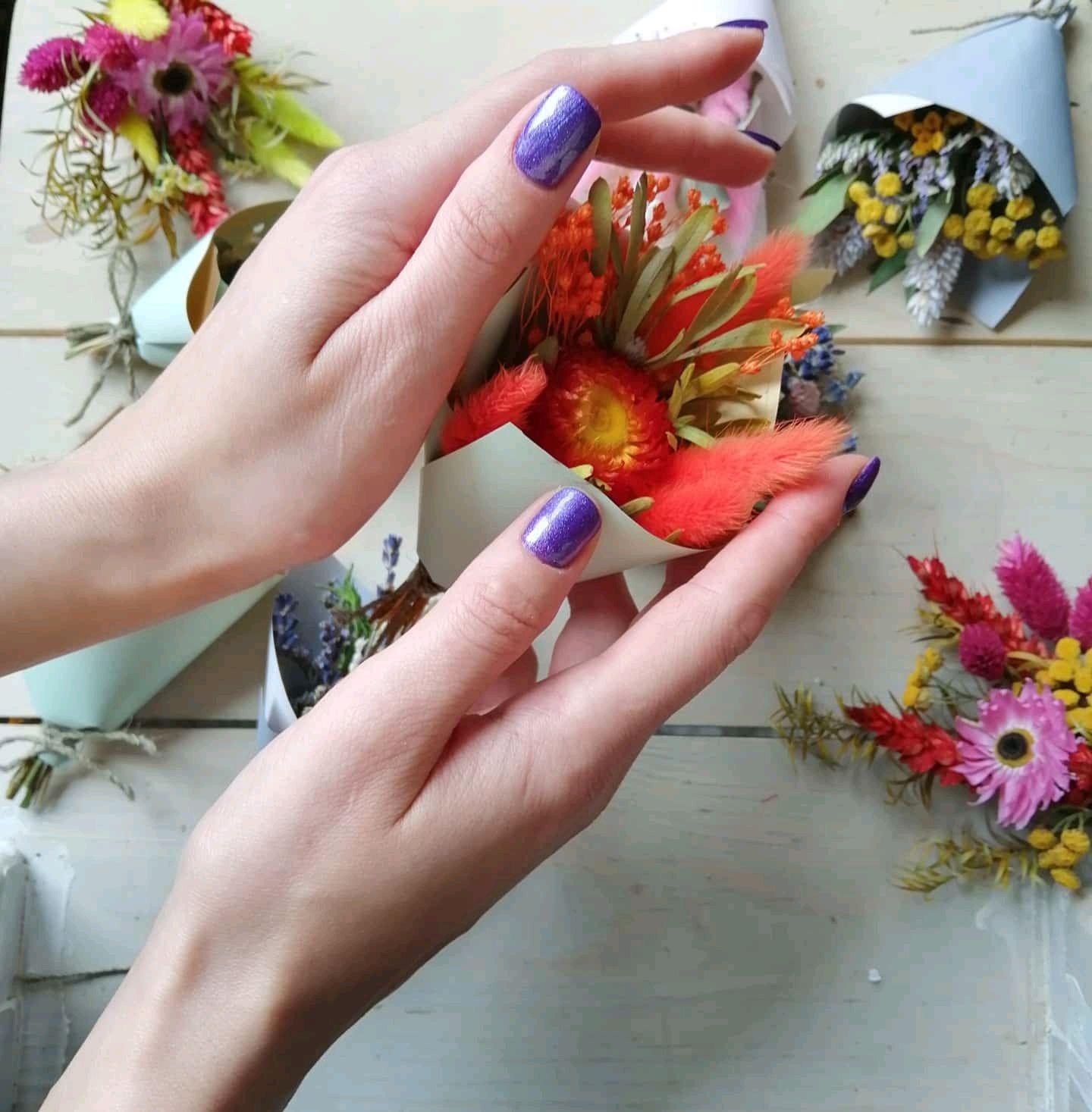 Букет комплимент из сухоцветов, Букеты, Санкт-Петербург,  Фото №1