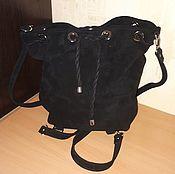 Сумки и аксессуары handmade. Livemaster - original item Backpack-bag made of genuine leather the model is 5. Handmade.