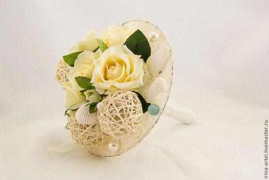 Свадебные цветы ручной работы. Ярмарка Мастеров - ручная работа. Купить Букет для невесты. Handmade. Букет-дублер, свадебный букет