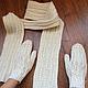 Варежки, митенки, перчатки ручной работы. Ярмарка Мастеров - ручная работа. Купить Варежки и шарф - комплект. Handmade. Белый, шарф