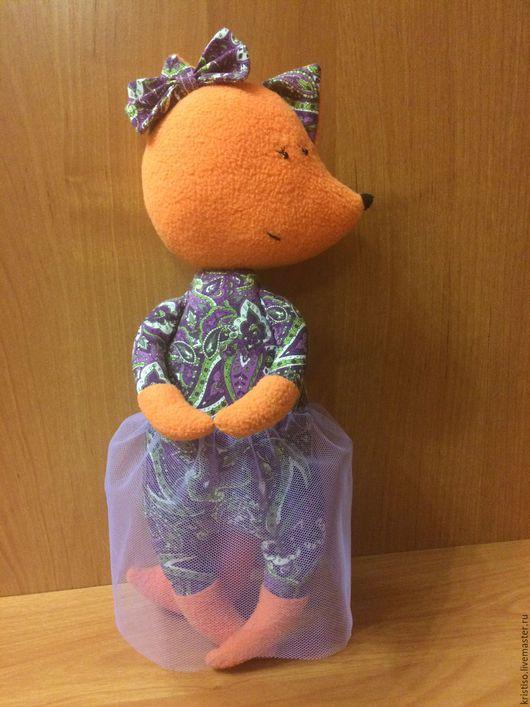 Лисичка-сестричка станет хорошим подарком  для ребенка.Высота лисички 31 см