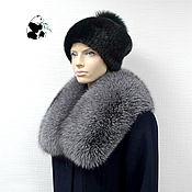 Аксессуары handmade. Livemaster - original item Fur collar Snood fur silver Fox breed Blue frost No. №3. Handmade.