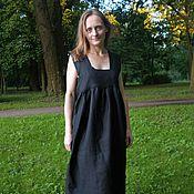 Одежда handmade. Livemaster - original item Dress black linen