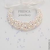 """Украшения ручной работы. Ярмарка Мастеров - ручная работа Миниатюрное колье """"Pearls"""" от FRESCA. Handmade."""