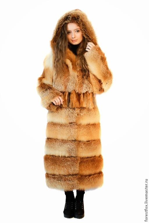 """Верхняя одежда ручной работы. Ярмарка Мастеров - ручная работа. Купить Шуба из лисы """"Зима"""". Handmade. Рыжий"""