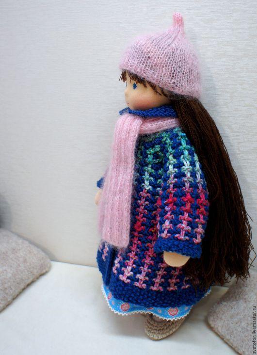 Вальдорфская игрушка ручной работы. Ярмарка Мастеров - ручная работа. Купить Синичка, 40 см. Handmade. Синий, кукла из ткани