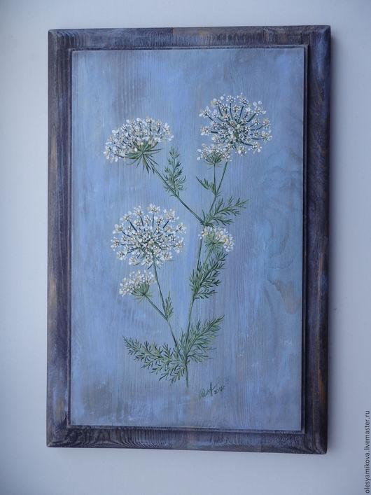 """Картины цветов ручной работы. Ярмарка Мастеров - ручная работа. Купить """" Анис """". Handmade. Голубой, для дома и интерьера"""