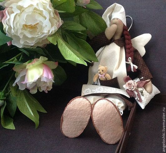 Куклы Тильды ручной работы. Ярмарка Мастеров - ручная работа. Купить Сплюша Ангел шоколадно-ванильных снов. Handmade. Коричневый