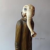 """Куклы и игрушки ручной работы. Ярмарка Мастеров - ручная работа Арт-кукла (дерево) """"Ночной гость"""". Handmade."""