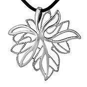 Материалы для творчества handmade. Livemaster - original item The maple leaf pendant is Nickel silver with silver plating. Handmade.