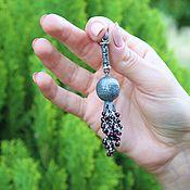 Украшения handmade. Livemaster - original item Garnet pendant in 925 sterling silver with hand-minted VA0010. Handmade.