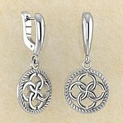Фен-шуй и эзотерика handmade. Livemaster - original item Earrings Weaving of destinies with a svadebnik. Handmade.