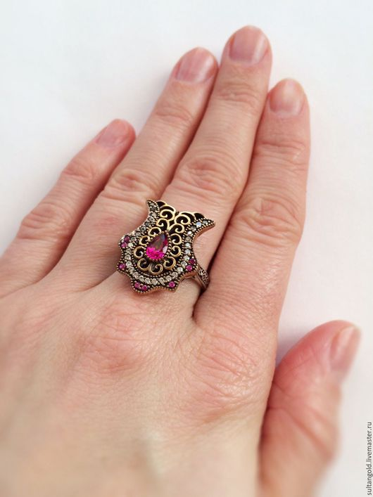 Кольца ручной работы. Ярмарка Мастеров - ручная работа. Купить Кольцо Лалели. Handmade. Фуксия, кольцо тюльпан, османский стиль