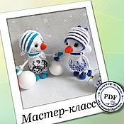 Материалы для творчества handmade. Livemaster - original item Winter Wonderland Snowman. MK. Handmade.