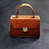 Сумки и аксессуары handmade. Livemaster - original item Classic women`s handbag, made of genuine ostrich leather.. Handmade.
