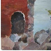 """Картины и панно ручной работы. Ярмарка Мастеров - ручная работа Картина акрилом """"Форт"""" картина море крепость милитари. Handmade."""