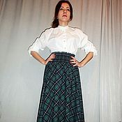 Одежда handmade. Livemaster - original item Skirt-tartan long warm wool in the floor