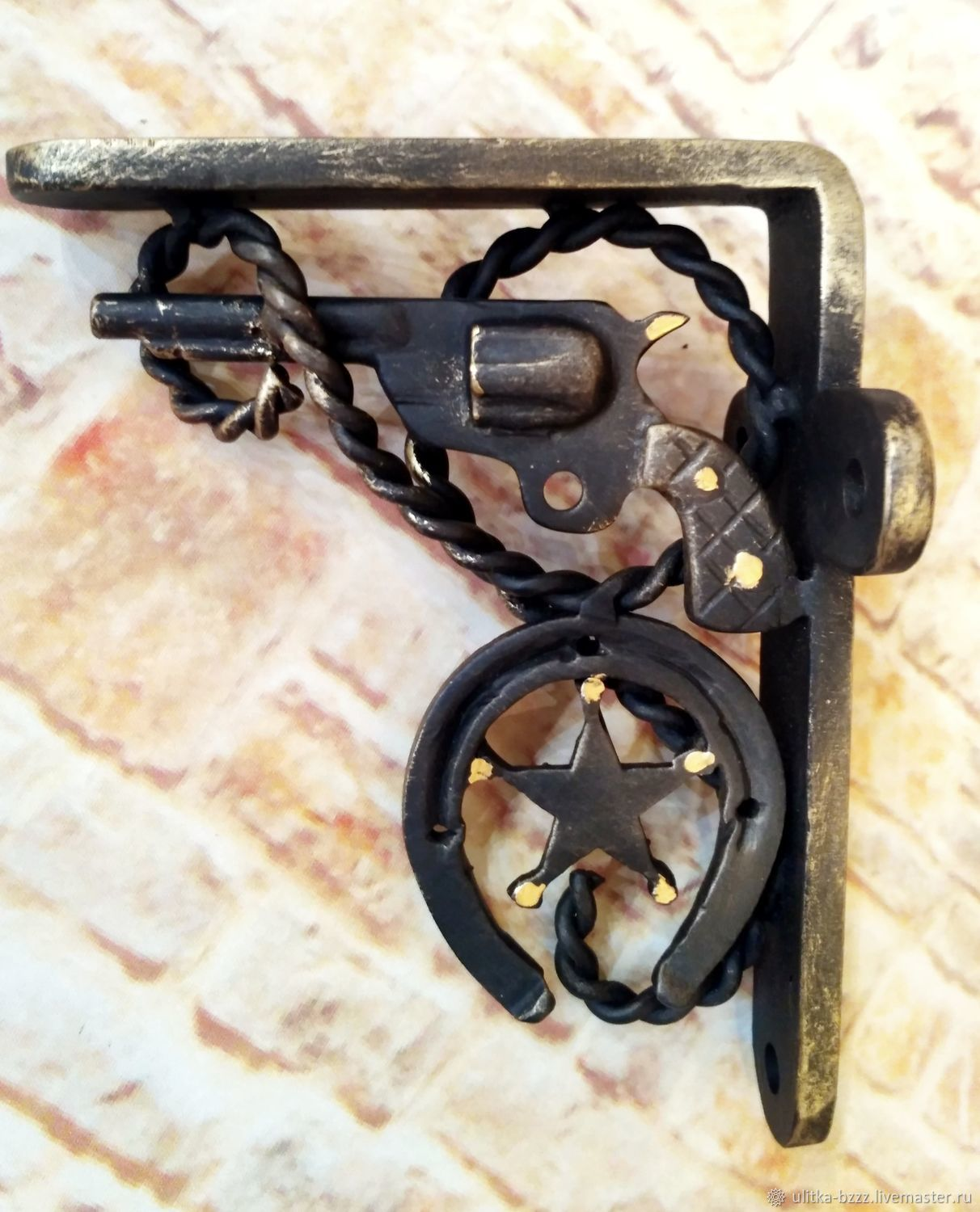 Forged bracket for the shelf ' Sheriff', Shelves, Moscow,  Фото №1