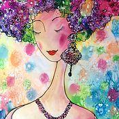 Картины и панно ручной работы. Ярмарка Мастеров - ручная работа Фея цветов.. Handmade.