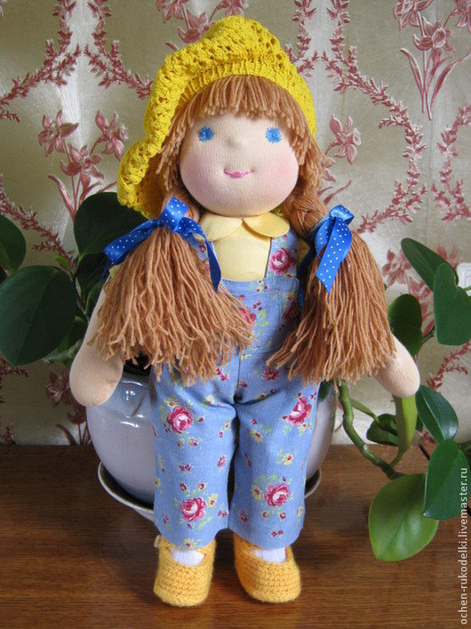 Вальдорфская игрушка ручной работы. Вальдорфская кукла Кнопочка, 41 см. .. Очень куклы .. Елена. Ярмарка мастеров.