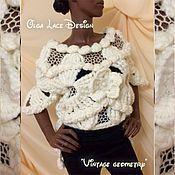 """Одежда ручной работы. Ярмарка Мастеров - ручная работа Вязаный джемпер """"Vintage geometry"""" от Olga Lace.. Handmade."""