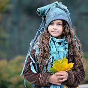 """Аксессуары ручной работы. Ярмарка Мастеров - ручная работа шапка валяная для девочки ,  """" Фрея"""". Handmade."""