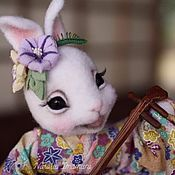 Куклы и игрушки ручной работы. Ярмарка Мастеров - ручная работа Зайка в кимоно Вьюнок. Handmade.