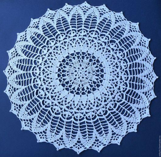 Текстиль, ковры ручной работы. Ярмарка Мастеров - ручная работа. Купить ВАСИЛЕК салфетка декоративная. Handmade. Белый, красивая салфетка